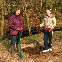 tree planting at Balloch Wood Community Project
